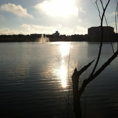 Photo taken at Lake outside of Publix by Maurice W. on 9/8/2012