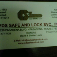 Photo taken at Red's Safe & Lock Services Inc. by Michael D. on 11/14/2011