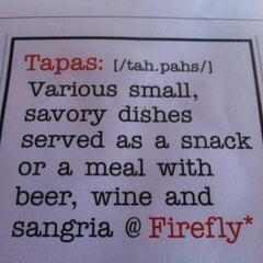 Photo taken at FIREFLY* Tapas Kitchen & Bar by Zsa-Zsa on 4/20/2012