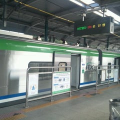 Photo taken at 가평역 (Gapyeong Stn.) by Mang M. on 9/10/2012