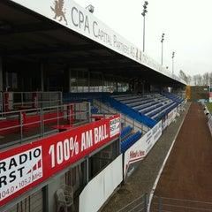 Photo taken at Sportpark am Lotter Kreuz (Sportfreunde Lotte) by Carolin H. on 3/31/2011