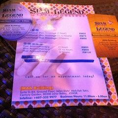 Photo taken at Siam Legend Thai Massage by SheRLeNe s. on 6/4/2012