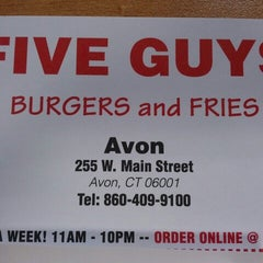Photo taken at Five Guys by Leanne J. on 6/8/2012