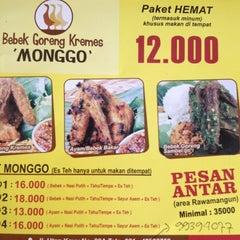 Photo taken at Bebek Goreng Kremes 'Monggo' by Ibel d. on 5/30/2012