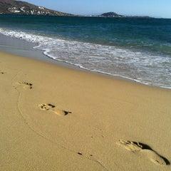 Photo taken at Παραλία Πλάκας (Plaka Beach) by Alex S. on 8/31/2012