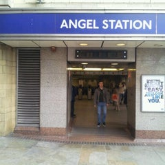 Photo taken at Angel London Underground Station by Ashley T. on 3/31/2012