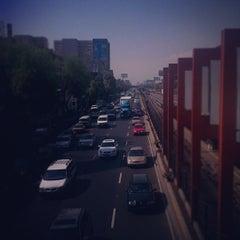Photo taken at Metro Viaducto (Línea 2) by Lorena V. on 3/28/2012