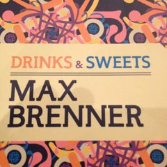 Photo taken at Max Brenner Chocolate Bar by Lance L. on 5/9/2012