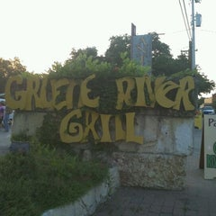 Photo taken at Gruene River Grill by Sarah C. on 5/24/2012