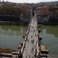 Photo taken at Ponte Sant'Angelo by Riccardo B. on 3/24/2012