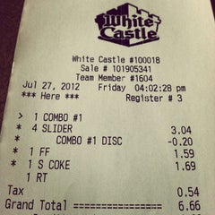 Photo taken at White Castle by Jesse S. on 7/27/2012