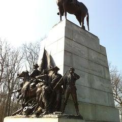 Photo taken at Virginia Monument, Gettysburg Battlefield by Matthew D. on 3/17/2012