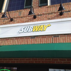 Photo taken at Subway by taylor r. on 3/16/2012