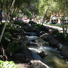 Photo taken at Mears Park by Cheryl P. on 8/5/2012