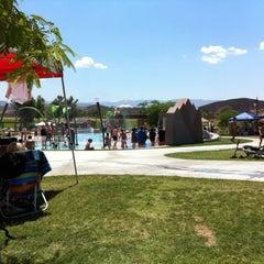Photo taken at Lake Skinner Splash Pad by Wes C. on 8/11/2012