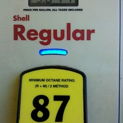Photo taken at Shell by Sean V. on 8/16/2012