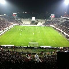 Photo taken at Beşiktaş İnönü Stadyumu Yeni Açık by Nilay Y. on 5/3/2012