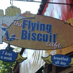Photo taken at The Flying Biscuit Cafe by Tamara J. on 4/7/2012
