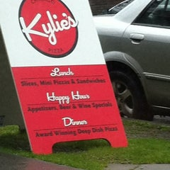Photo taken at Kylie's Chicago Pizza by Yatharth G. on 3/17/2012