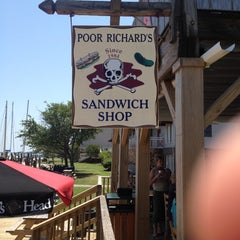 Photo taken at Poor Richard's Sandwich Shop by Richard R. on 5/31/2012