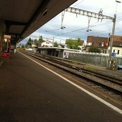 Photo taken at Bahnhof Dübendorf by Renata N. on 7/14/2012