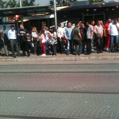 Photo taken at Cevizlibağ - A.Ö.Y. Tramvay Durağı by Tolga E. on 5/8/2012