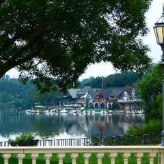 Photo taken at Boathouse Row by Tim K. on 8/14/2012