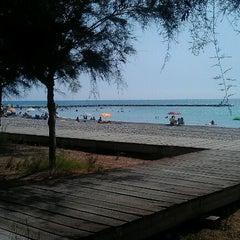 Photo taken at Platja Eurosol by Fanny G. on 8/18/2012