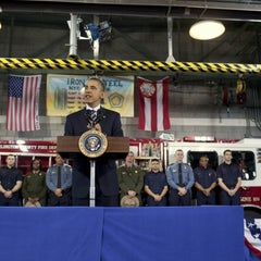 Photo taken at Arlington County Fire Station 5 by The White House on 2/3/2012