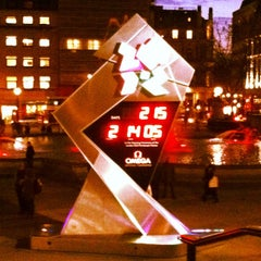 Photo taken at London 2012 OMEGA Countdown Clock by Guillermo C. on 8/16/2012