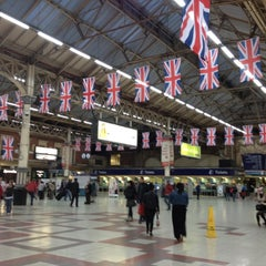 Photo taken at London Victoria Railway Station (VIC) by Eileen P. on 6/2/2012