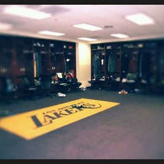Photo taken at Lakers Locker Room by @SeanZeeeee on 3/30/2012
