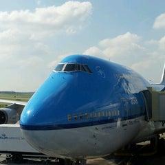 Photo taken at KLM Flight KL643 [AMS - JFK] by Alan N. on 7/6/2012