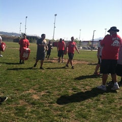 Photo taken at Oak Hills Bulldog Stadium by MJ P. on 5/9/2012