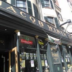 Photo taken at Jacob Wirth Restaurant by Caroline S. on 5/23/2012