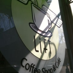 Photo taken at Lift Coffee Shop & Café by Margo P. on 3/13/2012