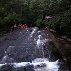 Photo taken at Sliding Rock by Sarah O. on 8/10/2012