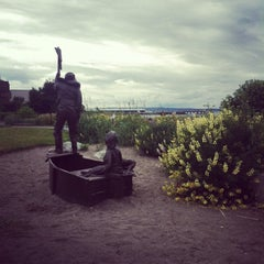 Photo taken at Brackett's Landing by Vania K. on 6/18/2012