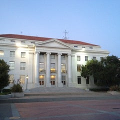 Photo taken at Sproul Plaza by Carlos L. on 7/29/2012