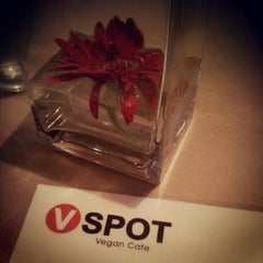 Photo taken at VSPOT Vegan Cafe by Emilie P. on 4/8/2012