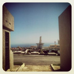 Photo taken at Cementerio de Playa Ancha by Gustavo M. on 9/1/2012