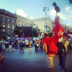 Photo taken at Official Fan Zone of UEFA EURO 2012 by Дмитрий Ш. on 6/16/2012