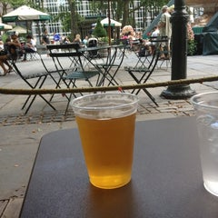 Photo taken at Southwest Porch at Bryant Park by Derek N. on 7/1/2012