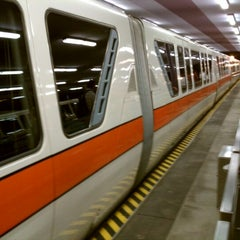 Photo taken at Monorail Orange by Matthew W. on 5/10/2012