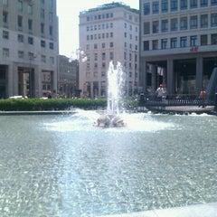 Photo taken at Piazza San Babila by Leli V. on 5/29/2012