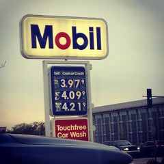 Photo taken at Mobil by Andrew L. on 4/19/2012