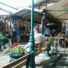 Photo taken at Zila Kávéház - Krisztina Cukrászda és Étterem by Edina G. on 8/12/2012