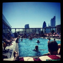 Photo taken at Shoreditch House by Omid A. on 9/9/2012