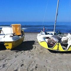 Photo taken at Spiaggia Libera by Valeria M. on 8/28/2012
