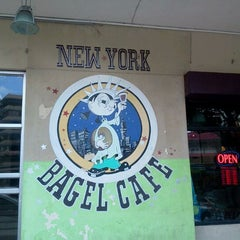 Photo taken at New York Bagel Cafe And Bakery by Ignacio B. on 2/10/2012